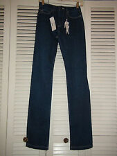 Women's Lacoste Jambe Droite Medium blue wash jeans straight leg $135 NWT Sz 30