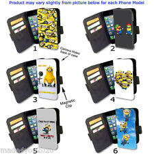 HD Minions Phone cover WALLET Flip Case AC24