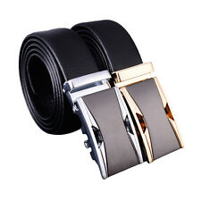 Luxury Mens Business Belt Buckle Automatic Waistband Leather Casual Genuine Belt
