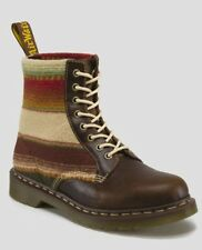 DR Doc MARTENS Pendleton Leather Santa Fe Stripe Wool Boots Brown NEW Sz 13 Mens
