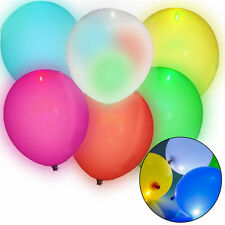 PACK OF 3 x LED LIGHT UP BALLOONS FOR PARTIES ADULTS OR CHILDRENS BIRTHDAYS