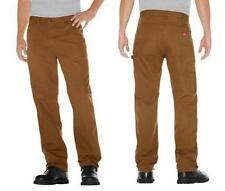 "Mens DICKIES Relaxed Fit CARPENTER JEAN Brown Work jeans 40x32 42x30"" straight"