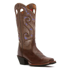 TONY LAMA Women's Bridle Brown Shiloh Embroidered Buckaroo Boots RR2016L NIB