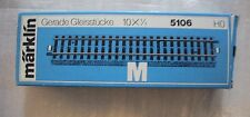 VINTAGE MARKLIN HO TRACK 5106 10 PIECES STRAIGHT10 X 1/1 NEW IN BOX