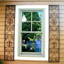 Faux Wrought Iron Window Shutters European Style but made ...