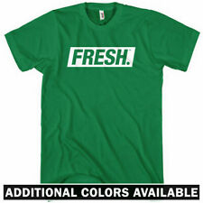 Fresh Boxed Logo T-shirt - Hip-Hop Slang Graffiti Street Art Vegan - Men S-4XL