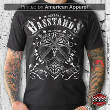 BASS PLAYER T-SHIRT ROCK N ROLL BASSTARDS| AMERICAN APPAREL | ROCKABILLY | MUSIC