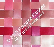 2 METRES Berisfords Double Satin Ribbon 10 PINK SHADES - Choose WIDTH & SHADE