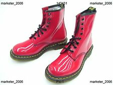 DOC DR. MARTENS 1460W RED PATENT LADIES BOOTS NEW