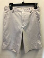 Nike Golf 330239 Dri Fit FLAT FRONT TECH SHORTS Ivory Cream Size 28 $60 NEW