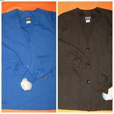 NWT SANIBEL SCRUBS LAB COAT - BLACK OR BLUE - SIZE XSMALL