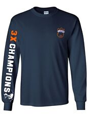 Denver Broncos Super Bowl 50 3X Champions Long Sleeve T-Shirt Unisex Rings SB50