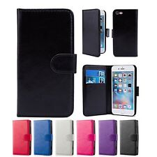 PU LEATHER WALLET CASE COVER FOR Apple iPhone 4 / 4S + FREE SCREEN PROTECTOR