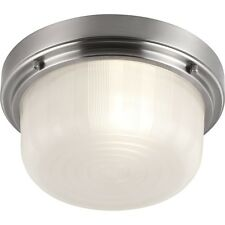 Feiss FM380BS 1-Light Elliot Ceiling Flush Mount Fixture Brushed Steel