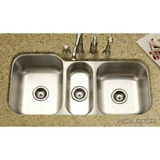 "Houzer MGT-4120-1 40"" X 20"" Undermount Triple Bowl Kitchen Sink Stainless Steel"