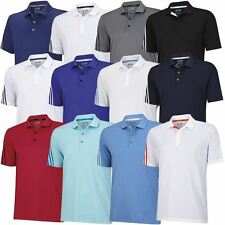 **SALE**  Adidas Golf 2015 ClimaCool 3-Stripes Mens Performance Golf Polo Shirt