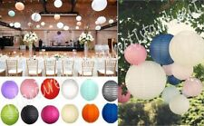 "10 Piece Set Paper Lantern 8""-18"" LED Lights Weddings Birthday Venue Decorations"