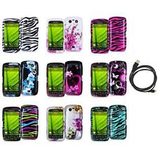 Design Hard Case Cover Accessory+6FT Cable for Blackberry Torch 9850 9860
