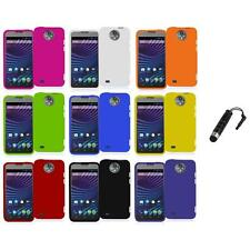 For ZTE Sprint Vital N9810 Hard Snap-On Rubberized Case Cover+Stylus Plug