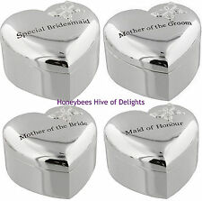 ENGRAVED Heart Butterfly Trinket Box Thank You Gifts For Wedding PARTY Presents