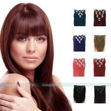 "7PCS Clip In Remy Straight Human Hair Extensions 70/80g 15""18""20""22"" Ombre Thick"