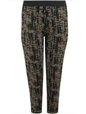 New Yours Clothing Plus size 14 18 20 26/28 Khaki/Black Printed Trousers