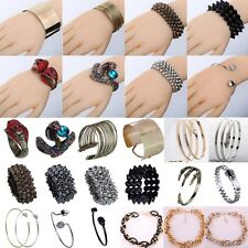 Chic Alloy Crystal Bracelet Bangle Chain Cuff Lady Party Jewelry For Woman Gift