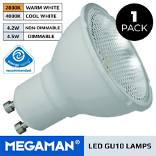 1X MEGAMAN LED GU10 LAMP 3.6W OR 5W LED BULB DIMMABLE OR NON DIMMABLE COOL/ WARM
