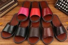 Spring Summer Genuine Leather Slippers Indoor Shoes Sandal Solid Color PT001