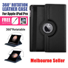 Black 360 Rotation Durable Stand Smart Leather Case for Apple iPad Pro