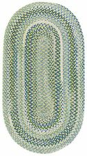 Capel Rugs Waterway Soft Cotton Chenille Braided Area Rug Yellow/Green/Blue #100