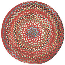 Capel Rugs St.Johnsbury Wool Double Braided Casual Round Rug Country Red