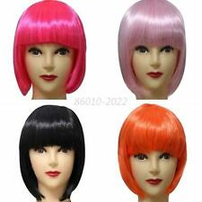Short Straight Synthetic Women Party Cosplay Bob Hair Full Wig Multi-color B90