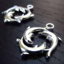 Dolphin Charms - Wholesale Ocean Sea Themed Pendants C4112 - 10, 20 Or 50PCs
