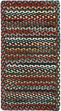 Capel Rugs St.Johnsbury Wool Double Braided Cross Sewn Rectangle Rug Black
