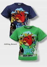 boys kids angry birds t shirt top green blue world book day age 5 6 7 8 10 12