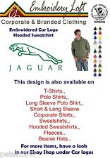 JAGUAR LOGO EMBROIDERED HOODED SWEATSHIRT.. 22 COLOURS IN 8 SIZES