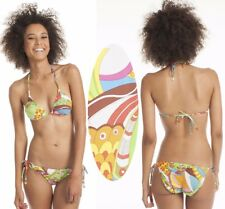 $136 Trina Turk Santa Cruz Triangle Slider Top & Tie Side Bottom Bikini Set 10