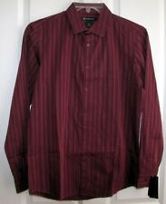 NWT  INC  L/S BUTTON UP SHIRT TILE RED STRIPE $50