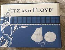 Fitz & Floyd Bristol Salt & Pepper - White - NIB