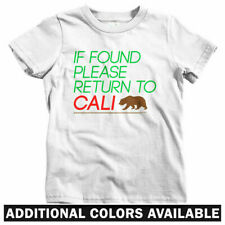 Return to California Kids T-shirt - Baby Toddler Youth Tee - Los Angeles Cali CA