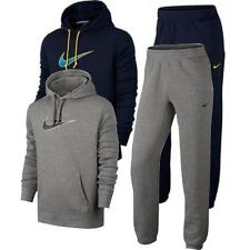 Nike Mens Overhead Full Tracksuit Fleece Hooded Jogging Bottms Joggers