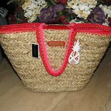 JUICY COUTURE GEORGICA PICNIC IN THE PARK STRAW TOTE~NWT! MSRP$248
