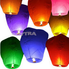 9 Colors Chinese Paper Sky Flying Wishing Lantern Lamp Candle Party Wedding HF