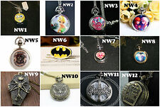 Adult necklace pocket watches Harry Potter - Jack - Zelda - Batman Huge Variety