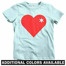 Heart of Chicago Kids T-shirt - Baby Toddler Youth Tee - Star I Love Flag Cubs