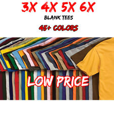 3XL 4XL 5XL 6XL Men's Blank T Shirt Big 3X 4X 5X 6X Plain T-Shirt LOW PRICES