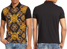 NWT Versace Jeans by Gianni Versace Slim Fit Baroque Graphic-Print Logo Polo