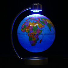 Desk Educational Study Magnetic Levitation Floating Globe World Map Gift 8 inch