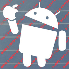 Android Eating Apple Decal - JDM, Tuner, Geek, Import, Sticker